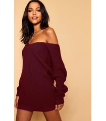 v neck sweater mini dress, burgundy