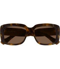 balenciaga balenciaga bb0072s havana sunglasses