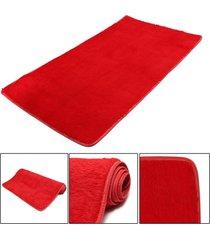 mat moda dormitorio estera del piso mullido manta antideslizante salón del hogar del amortiguador alfombra negro - rojo