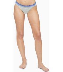 calvin klein women's lace-trim thong underwear qd3837