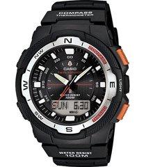 reloj casio sgw 500h en goma negro para hombre
