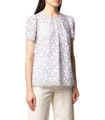 geborduurde kanten blouse