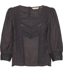 laura blouse blouses short-sleeved grijs odd molly