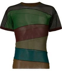 jean paul gaultier pre-owned sheer panelled t-shirt - multicolour