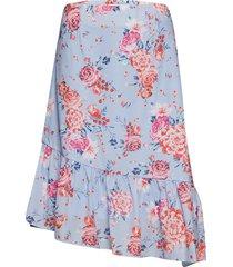lucy skirt knälång kjol blå by malina
