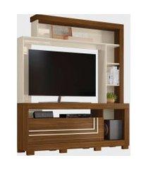 estante nice p/ tv até 60 polegadas freijó/off white belaflex móveis