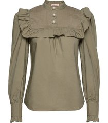 misella blouse lange mouwen groen custommade