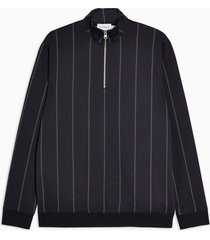 mens navy pinstripe track top