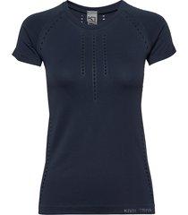 t tee t-shirts & tops short-sleeved blå kari traa