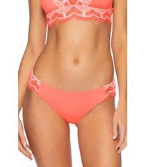women's becca delilah american bikini bottoms, size large - pink