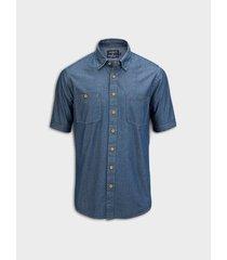 camisa denim silueta regular fit para hombre 08384