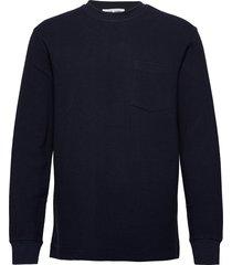 adhil crew neck 11696 sweat-shirt tröja blå samsøe samsøe