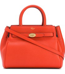 mulberry small belted bayswater tote bag - orange