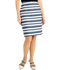 kasper petite striped skirt