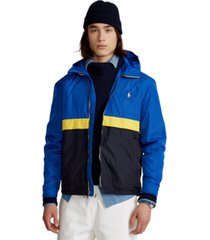 polo ralph lauren men's water-repellent hooded jacket