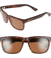 women's electric 'knoxville' 56mm polarized sunglasses - matte tort/ bronze polar