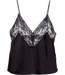 saint laurent lace-panel vest top