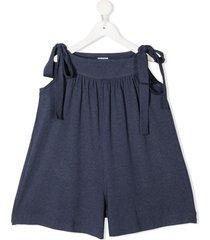piccola ludo sleeveless flared playsuit - blue