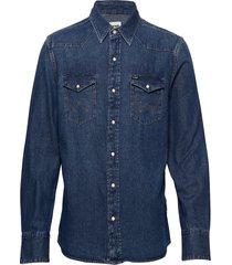 27mw skjorta casual blå wrangler