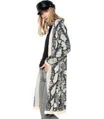 abrigo beige-negro paris district