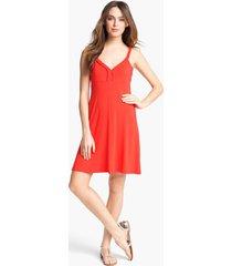 women's calvin klein sleeveless a-line dress, size 6 - red