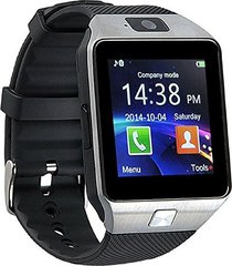 smartwatch reloj inteligente dz09 android plateado