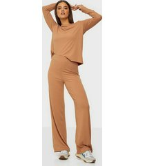 nly trend ribbed ls set jumpsuits