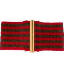 marni ribbed knit belt - green