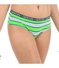 calcinha boy short verde capricho college - 520.024 capricho lingerie boneca multicolorido
