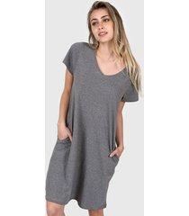 vestido gris chelsea market lolita corto