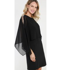 vestido gasa negro night concept