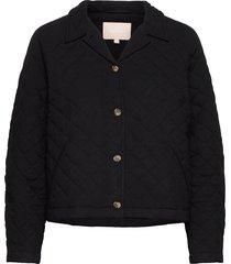 srroberta jacket doorgestikte jas zwart soft rebels