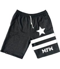 bermuda moletom mfw army star com bolsos masculina