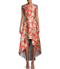 sachin & babi women's masha floral high-low dress - red multi - size 12