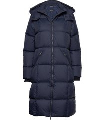 d2. classic down long coat gevoerde lange jas blauw gant