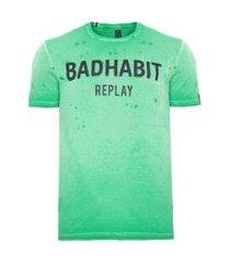camiseta masculina badhabit - verde