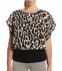 joseph a print dolman short sleeve chiffon blouse