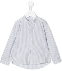 knot chelsea striped shirt - blue