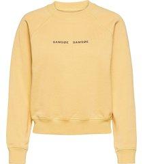 barletta crew neck 10902 sweat-shirt trui geel samsøe samsøe