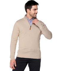 sweater camel 105 preppy m/l c/alto 1/2 cremallera t.delgado