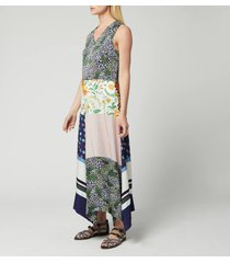 see by chloé women's patch maxi dress - multicolour - eu 40/uk 12