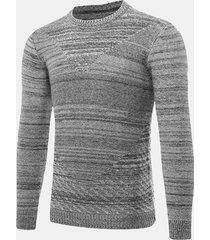 maglioni di jacquard di stile breve del manicotto solido collare di o-collo collare autunno maglioni casuali di inverno di inverno