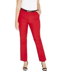 pantalon formal pierna recta rojo lorenzo di pontti