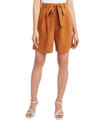 bcbgeneration woven tie-waist long shorts