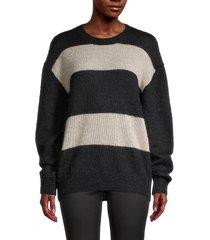 iro women's elkins colorblock mohair-blend sweater - black - size 34 (2)