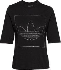 t shirt t-shirts & tops short-sleeved svart adidas originals