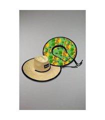 chapéu kouk authentic de palha abacaxi style
