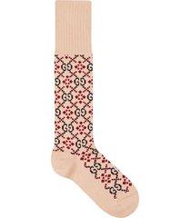gucci gg diamond socks - neutrals