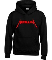 buzo chaqueta metalica -negro