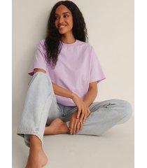 na-kd basic ekologisk oversize t-shirt med 3/4-ärm - purple